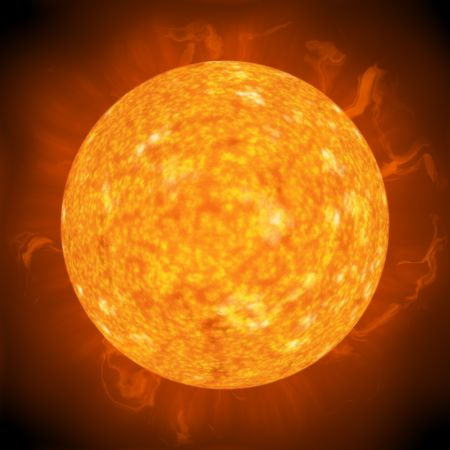 Solar flares and hot surface of the sun