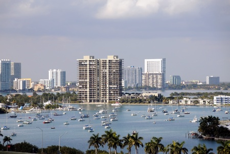 Urban scenery from Miami's waterfront