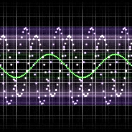Radio frequency display with sine waves
