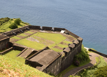 Brimstone Hill Fort George overlooking the Caribbean on the island of St Kitts