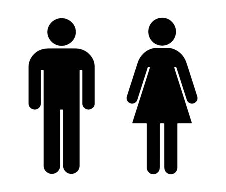 Illustration pour Men and Women sign - image libre de droit