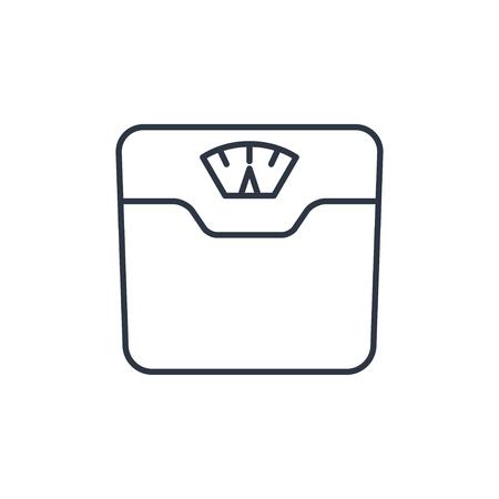 Ilustración de Vector bathroom weight scale icon - Imagen libre de derechos