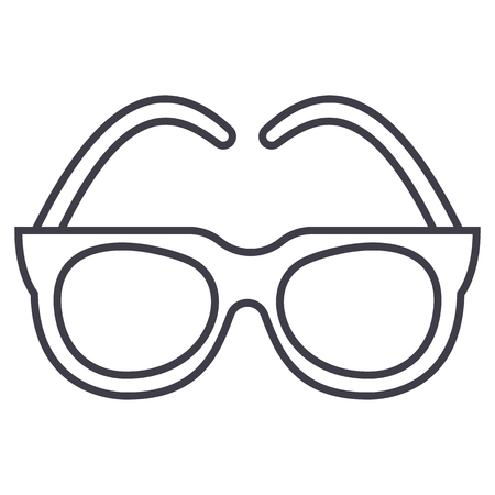 Goggles, sunglasses vector line icon, sign, illustration on white background.