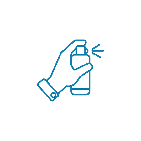 Illustration for Disinfectants line icon, vector illustration. Disinfectants linear concept sign. - Royalty Free Image