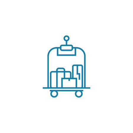 Illustration pour Porter services  line icon, vector illustration. Porter services  linear concept sign. - image libre de droit