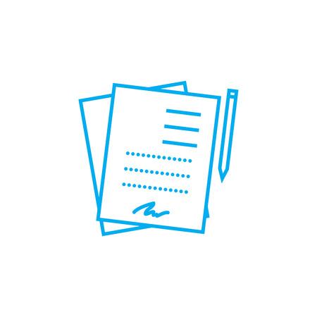 Photo pour Signed documents line icon, vector illustration. Signed documents linear concept sign. - image libre de droit