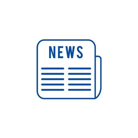 Illustration pour News line concept icon. News flat  vector website sign, outline symbol, illustration. - image libre de droit