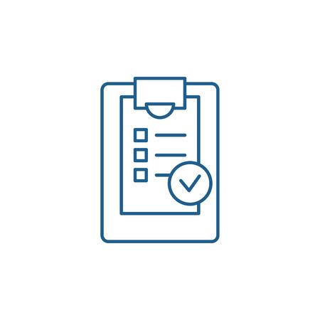 Illustration pour Checklist line concept icon. Checklist flat  vector website sign, outline symbol, illustration. - image libre de droit