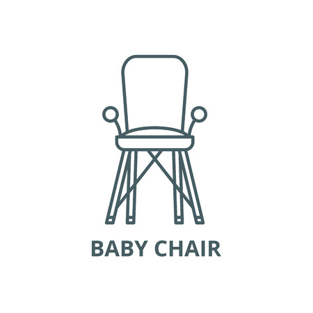 Baby Chair In Room Line Icon Vector Baby Chair In Room Outline