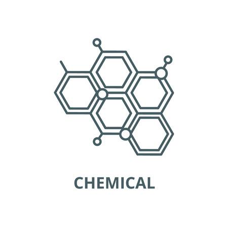 Illustration pour Chemical line icon, vector. Chemical outline sign, concept symbol, illustration - image libre de droit