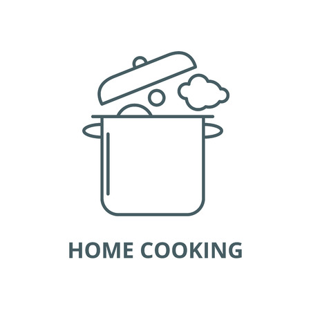 Illustration for Home cooking vector line icon, outline concept, linear sign - Royalty Free Image