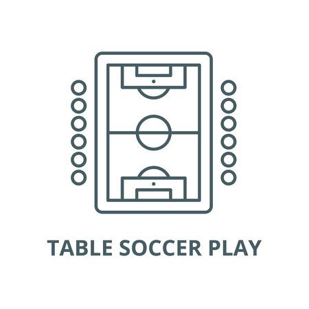 Illustration pour Table soccer play vector line icon, outline concept, linear sign - image libre de droit