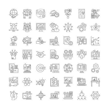 Illustration pour Hitech business company line icons, signs, symbols vector, linear illustration set - image libre de droit