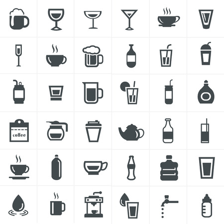Drink icons set.