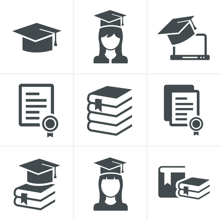 Photo for Education icons set. - Royalty Free Image