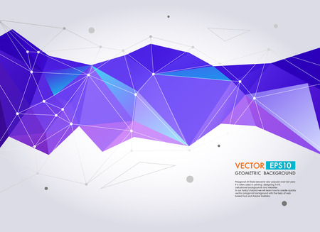 Foto de Abstract  geometric background. Vector Polygon Illustration - Imagen libre de derechos