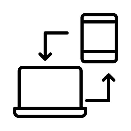 Illustration pour data sharing  - image libre de droit