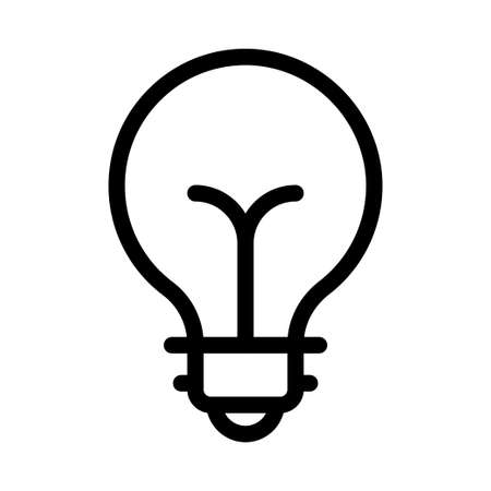 Illustration for lightbulb icon - Royalty Free Image