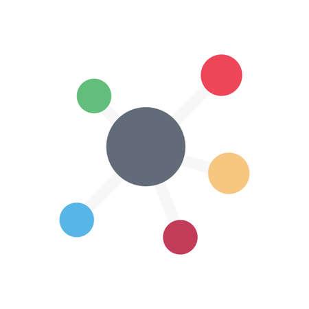 Illustration pour science vector flat color icon - image libre de droit