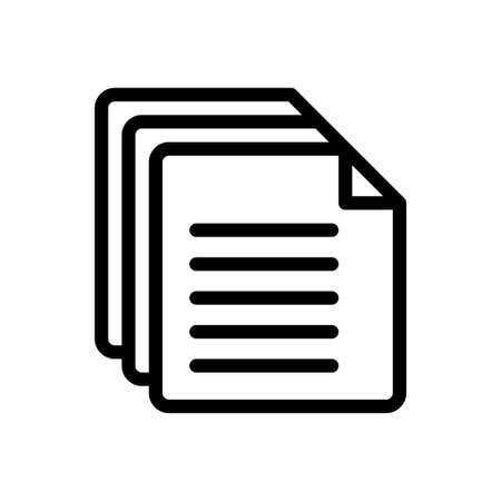 Illustration pour pages vector thin line icon - image libre de droit