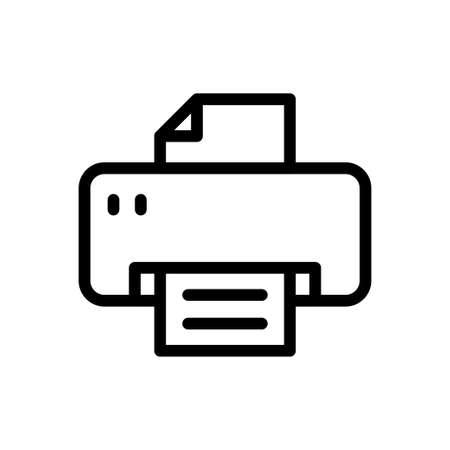 Illustration pour printer vector thin line icon - image libre de droit
