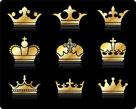 Original illustration: crown design collection