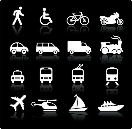 Original illustration: Transportation icons design elements