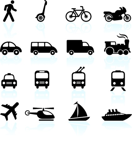 Photo for Original vector illustration: Transportation icons design elements - Royalty Free Image