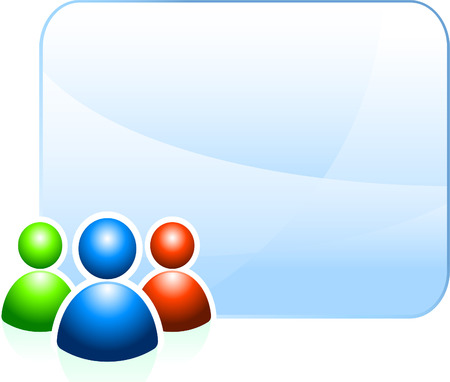 User group background with empty frameOriginal Vector IllustrationIdeal for internet concepts