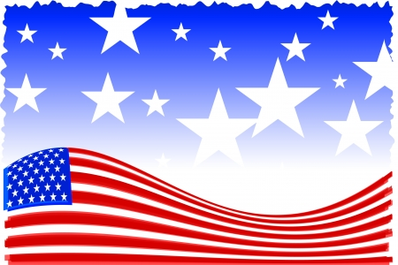 Original Vector Illustration: american patriot backgroundAI8 compatible
