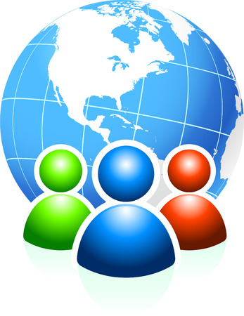 Global CommunicationOriginal Vector IllustrationIdeal for internet concepts