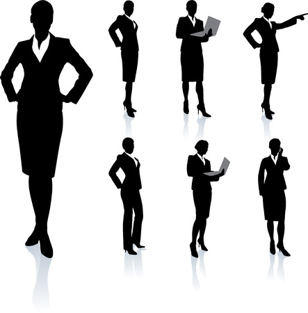 Businesswoman Silhouette CollectionOriginal Vector IllustrationPeople Silhouette Sets