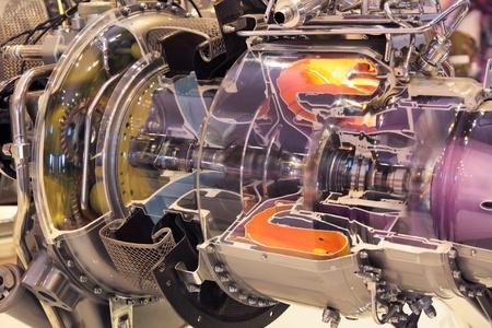 Photo pour Model of gas turbine engine planes in the section - image libre de droit