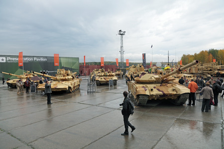 IZHNY TAGIL, RUSSIA - SEP 26, 2013: The international exhibition of armament, military equipment and ammunition RUSSIA ARMS EXPO (RAE-2013)