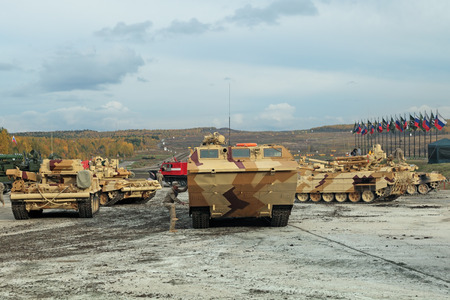 NIZHNY TAGIL, RUSSIA - SEP 26, 2013: The international exhibition of armament, military equipment and ammunition RUSSIA ARMS EXPO (RAE-2013)
