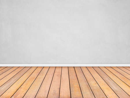 Photo pour Room interior vintage with white wall and wood floor background - image libre de droit