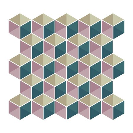 Illustration for Color vector pattern cubes - Royalty Free Image