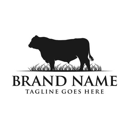 Ilustración de angus cow logo your company - Imagen libre de derechos