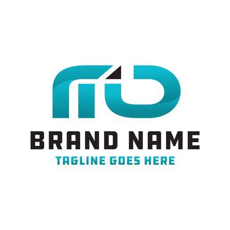 Illustration for MD logo business logo design - Royalty Free Image