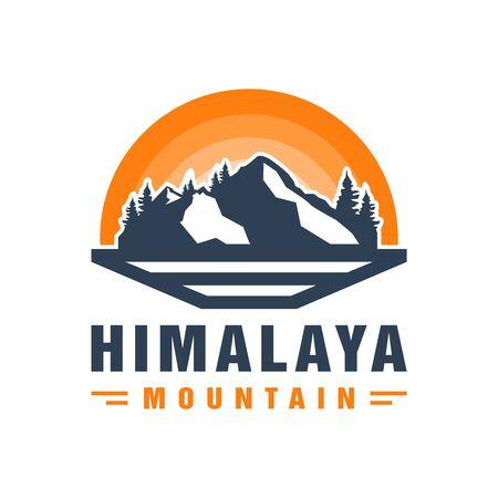 Illustration pour Himalayan mountain vector logo design - image libre de droit