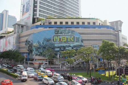 Bangkok Thailand  April 16 2015: MBK Center is a popular shopping mall containing 2000 shops restaurants and service outlets in Bangkok Thailand.