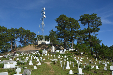 antenna tower at a Grave