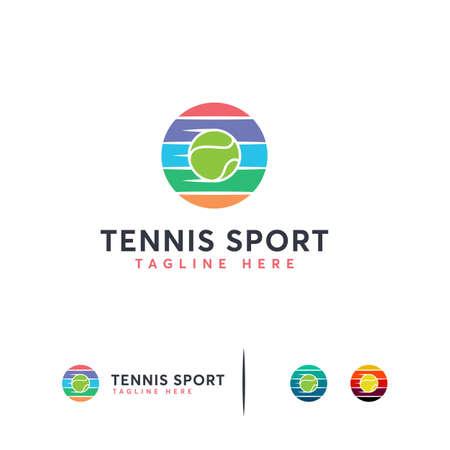 Illustration for Elegant Tennis Logo designs vector, Iconic Tennis Ball logo template - Royalty Free Image