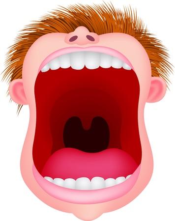 Illustration pour Open mouth - image libre de droit