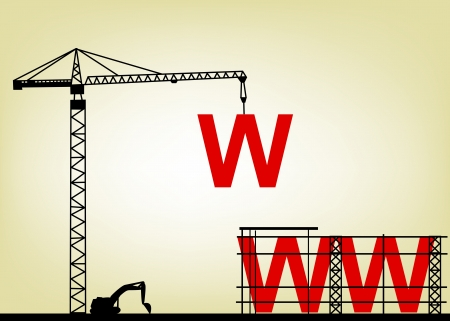 illustration of construction web site