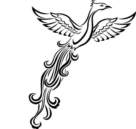 Ilustración de Phoenix bird tattoo - Imagen libre de derechos