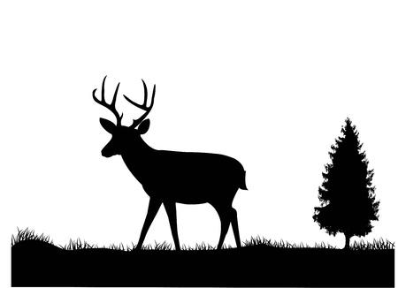illustration of Deer silhouette