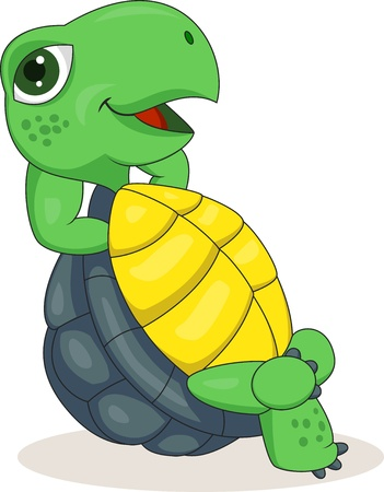 illustration of Turtle relaxing
