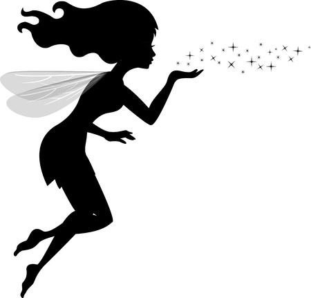 Illustration Of Beautiful love fairy sanding blowing magic spell