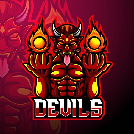 Devil esport logo mascot design
